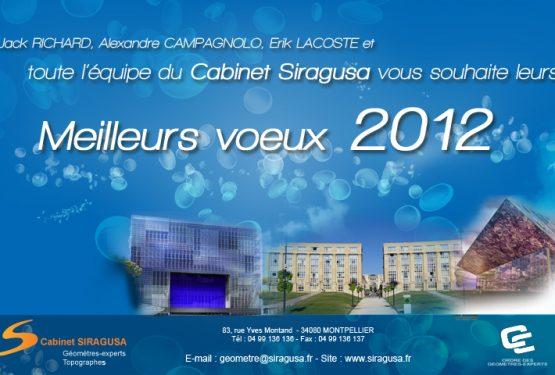 Carte de voeux 2012 du Cabinet Siragusa – Géomètre expert de Montpellier