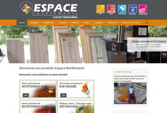 Re-design du site Espace revêtement Coste Peintures