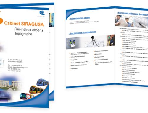 Plaquette cabinet Siragusa Géomètre expert de Montpellier