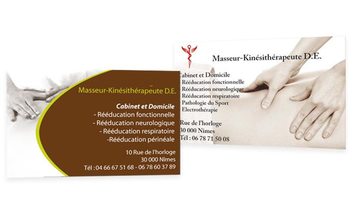 Connu Carte de visite – Cabinet de Kinésithérapeute JD08