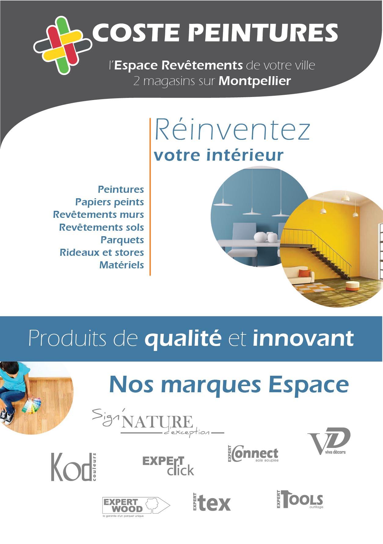 Coste Peintures : 2 magasins sur Montpellier - MaComm