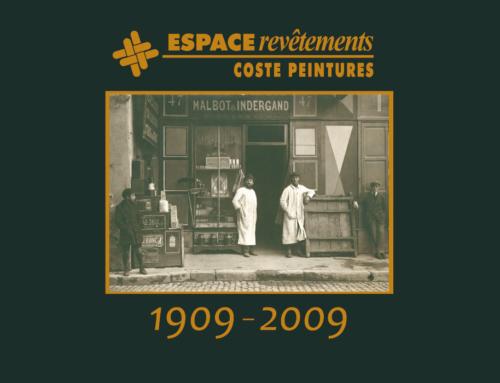 Carton d'invitation 100ème anniversaire du magasin Coste Peintures