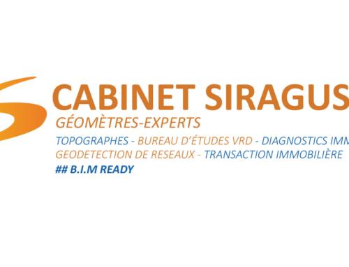 Logo et carte de visite Cabinet de géomètre Siragusa