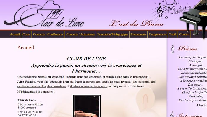 Site vitrine – Clair de Lune