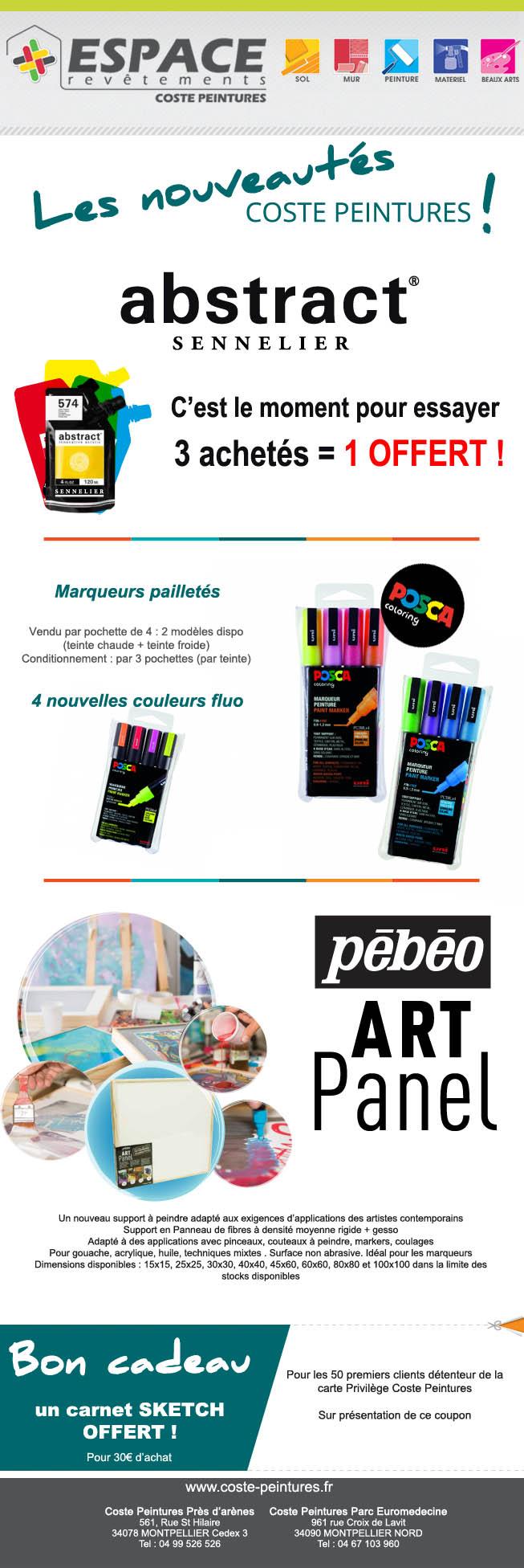 Newsletter mensuelle pour Coste Peintures