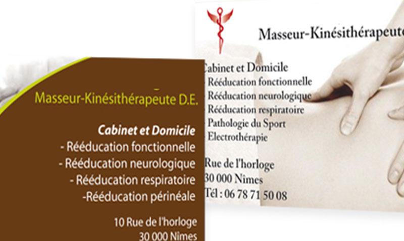 Carte de visite – Cabinet de Kinésithérapeute