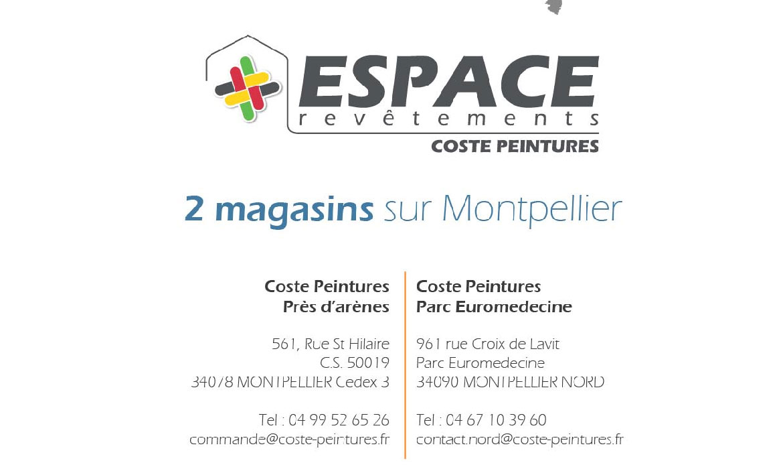 Coste Peintures : 2 magasins sur Montpellier